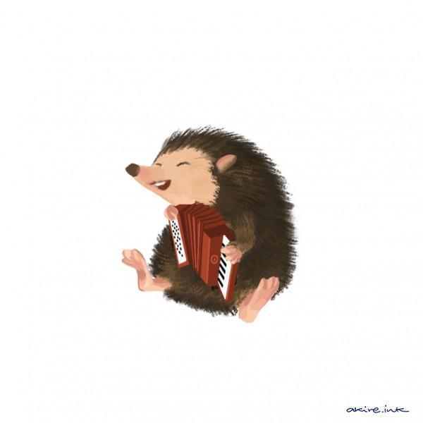 hedgehog handuche