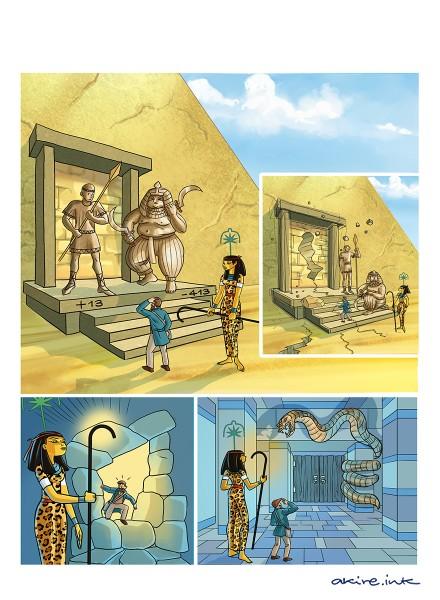 Cartoon for algebra school book