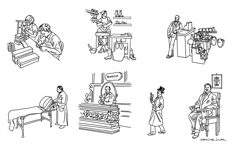 illustrations of book history.