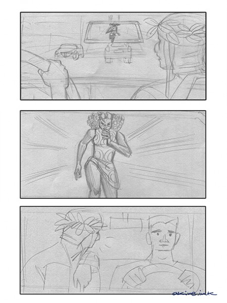 Movie sequence Storyboard